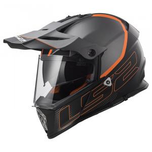 Casco cross/enduro LS2 Helmets MX436 PIONEER ELEMENT Matt Tittanium Black