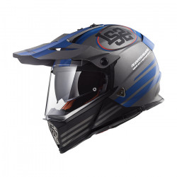 Casco cross/enduro LS2 Helmets MX436 PIONEER QUARTERBACK Matt Titanium Blue