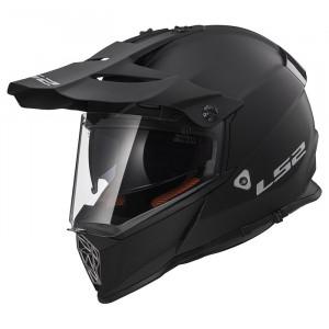 Casco cross/enduro LS2 Helmets MX436 PIONEER SOLID Matt Black