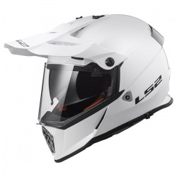 Casco cross/enduro LS2 Helmets MX436 PIONEER SOLID White