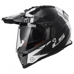Casco cross/enduro LS2 Helmets MX436 PIONEER Trigger Black White Titanium