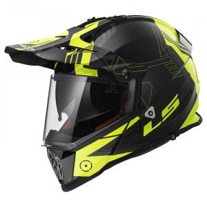 SUPEROFERTA: Casco cross/enduro LS2 Helmets MX436 PIONEER TRIGGER Black-White-Hi-Vis-Yellow