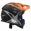 Casco cross/enduro LS2 Helmets MX437 FAST CORE Black Gloss Orange