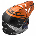 Casco cross/enduro LS2 Helmets MX437 FAST CORE Black Gloss Orange