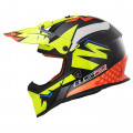 Casco cross/enduro LS2 Helmets MX437 FAST VOLT Black H-V Yellow