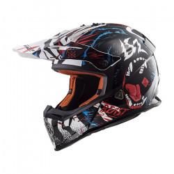Casco cross/enduro LS2 Helmets MX437 FAST BEAST Black White