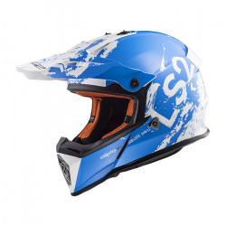Casco cross/enduro LS2 Helmets MX437 FAST SPOT White Blue
