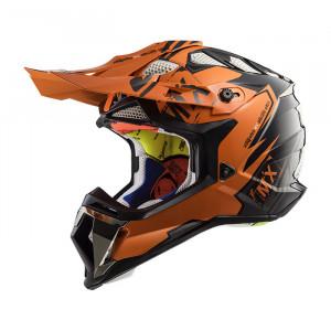 Casco cross/enduro LS2 Helmets MX470 SUBVERTER Emperor Black Orange
