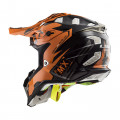SUPEROFERTA Casco cross/enduro LS2 Helmets MX470 SUBVERTER Emperor Black Orange