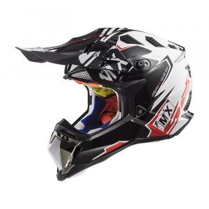 Casco cross/enduro LS2 Helmets MX470 SUBVERTER Emperor Black White Red