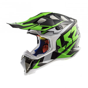 Casco cross/enduro LS2 Helmets MX470 SUBVERTER Nimble Black White Green