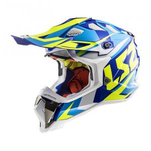 Casco cross/enduro LS2 Helmets MX470 SUBVERTER Nimble White Blue H-V Yellow