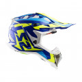 Casco cross/enduro LS2 Helmets MX470 SUBVERTER Nimble White Blue H-V Yellow