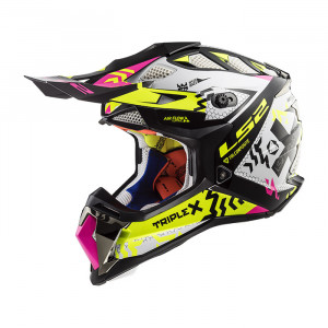 Casco cross/enduro LS2 Helmets MX470 SUBVERTER Triplex Black H-V Yellow Pink