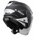 SUPEROFERTA: Casco jet LS2 Helmets OF521 INFINITY BEYOND Black-White