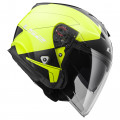 Casco jet LS2 Helmets OF521 INFINITY BEYOND Black H-V Yellow