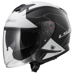 Casco jet LS2 Helmets OF521 INFINITY BEYOND Black-White
