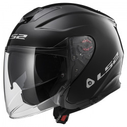Casco jet LS2 Helmets OF521 INFINITY SOLID Black
