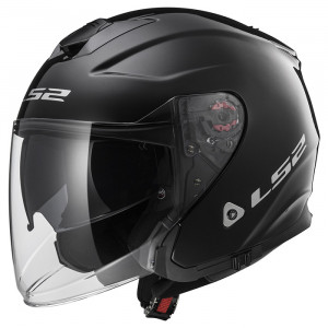 SUPEROFERTA Casco jet LS2 Helmets OF521 INFINITY SOLID Black