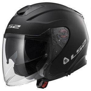 Casco jet LS2 Helmets OF521 INFINITY SOLID Matt Black