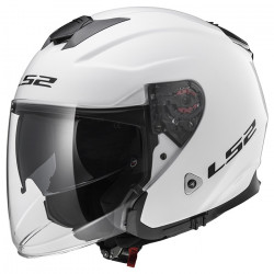 Casco jet LS2 Helmets OF521 INFINITY SOLID White
