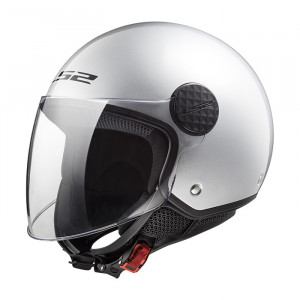 Casco jet LS2 Helmets OF558 SPHERE Solid Plata