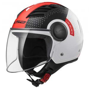 Casco jet LS2 Helmets OF562 AIRFLOW L CONDOR White Black Red