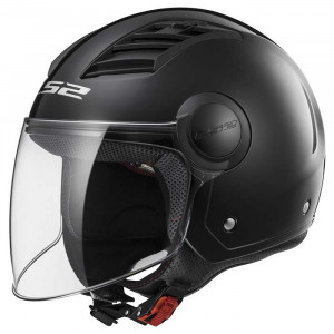 Casco jet LS2 Helmets OF562 AIRFLOW L SOLID Black