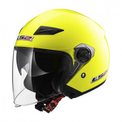 Casco jet LS2 Helmets OF569 TRACK SOLID H-V Yellow