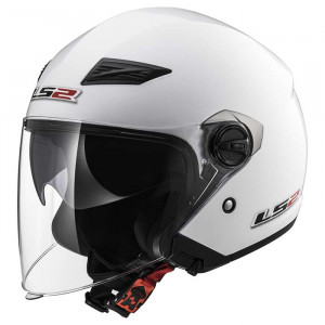 Casco jet LS2 Helmets OF569 TRACK SOLID White