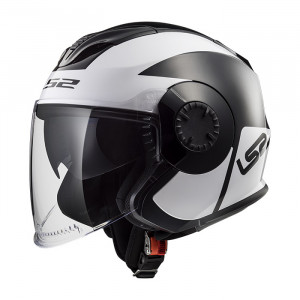 Casco jet LS2 Helmets OF570 VERSO Mobile Black White