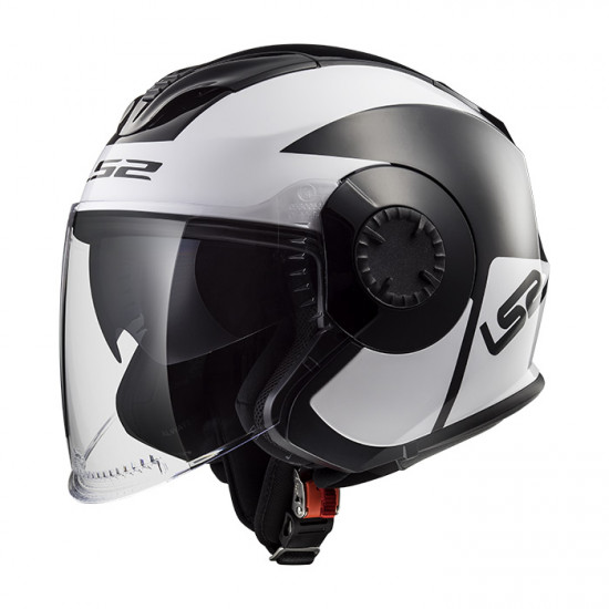Casco jet LS2 Helmets OF570 VERSO Mobile Black White