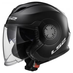 Casco jet LS2 Helmets OF570 VERSO Solid Black