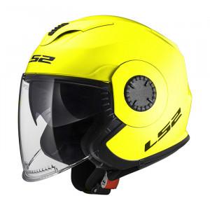 Casco jet LS2 Helmets OF570 VERSO Solid H-V Yellow