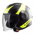 SUPEROFERTA: Casco jet LS2 Helmets OF570 VERSO Technik Black Yellow