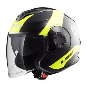 SUPEROFERTA: Casco jet LS2 Helmets OF570 VERSO Technik Black Yellow