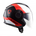 SUPEROFERTA: Casco jet LS2 Helmets OF570 VERSO Technik Black White Red