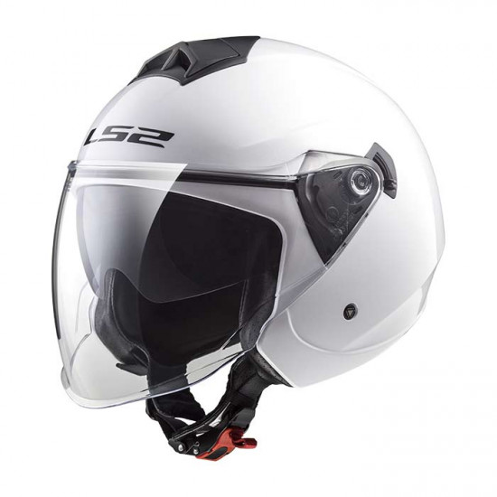 Casco jet LS2 OF573 TWISTER Solid White