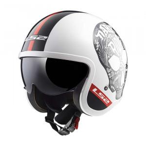 SUPEROFERTA: Casco jet LS2 Helmets OF599 SPITFIRE Inky White Black