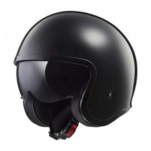 Casco jet LS2 Helmets OF599 SPITFIRE Solid Black