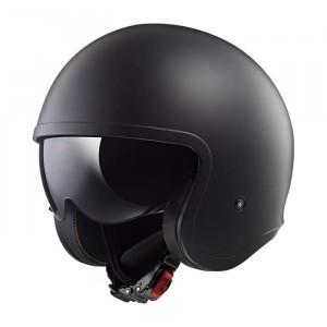 Casco jet LS2 Helmets OF599 SPITFIRE Solid Matt Black