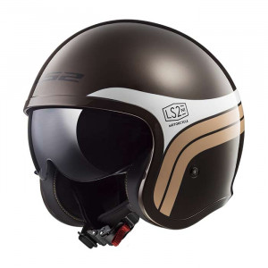 SUPEROFERTA: Casco jet LS2 Helmets OF599 SPITFIRE Sunrise Brown White