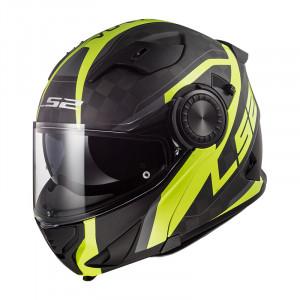Casco convertible LS2 Helmets FF313 VORTEX FRAME Matt C Gloss H-V Yellow