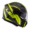 Casco convertible LS2 Helmets FF313 VORTEX FRAME Matt C Gloss H-V Yellow