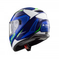 Casco integral LS2 Helmets FF320 STREAM EVO AXIS White Blue