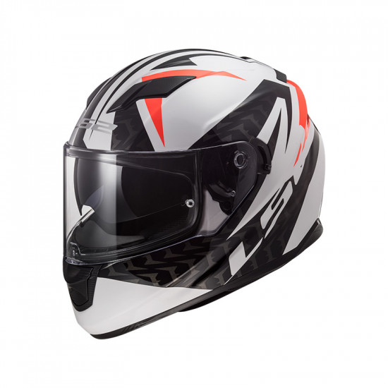 Casco integral LS2 Helmets FF320 STREAM EVO COMMANDER White Black Red