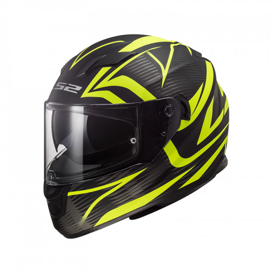 Casco integral LS2 Helmets FF320 STREAM EVO JINK Matt Black HV Yellow