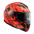 Casco integral LS2 Helmets FF320 STREAM EVO LAVA Fluo Orange Black