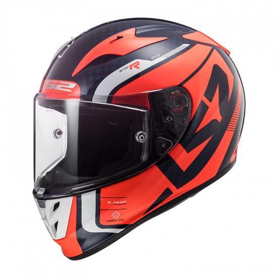 Casco integral LS2 Helmets FF323 ARROW C EVO Sting Blue Fluo Orange > REGALO: Pantalla ahumada