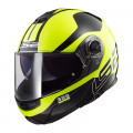 Casco convertible LS2 Helmets FF325 STROBE ZONE Black H-V Yellow
